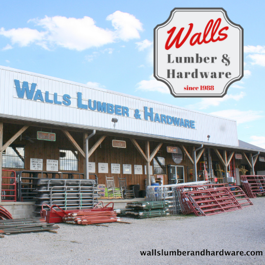 photo of supplies in front of Walls Lumber & Hardware